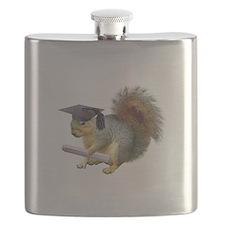 Squirrel Graduation Flask