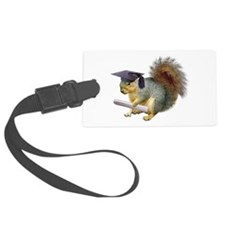 Squirrel Graduation Luggage Tag