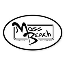 Moss Beach Oval Decal