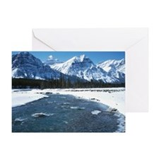 River flowing through the valley in  Greeting Card