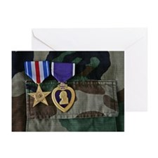 Silver Star and Purple H Greeting Cards (Pk of 10)