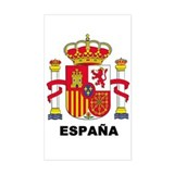 España Rectangle Decal
