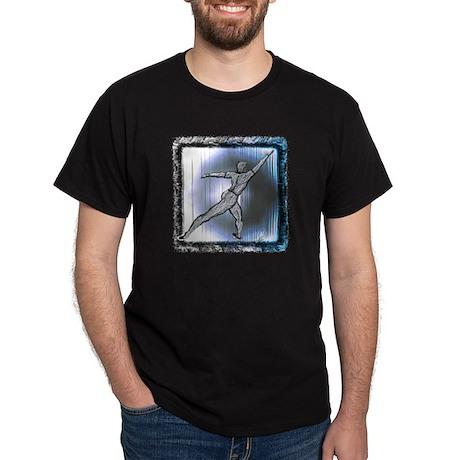 Men's Lunging Dancer in Dark Colors T-Shirt