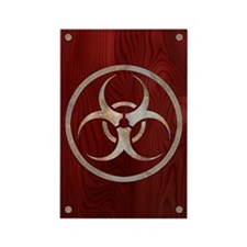 Corroded Biohazard Rectangle Magnet (100 pack)