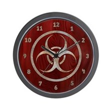Corroded Biohazard Wall Clock