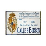 Rue Bourbon Tiles Rectangle Magnet