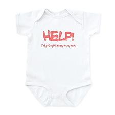 Writer's Pink Plot Bunny Infant Bodysuit