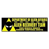 Department of Alien Affairs Bumper Car Sticker