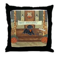 Halloween Labrador Throw Pillow