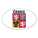 Česko Oval Decal
