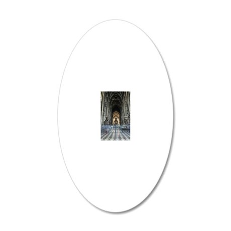 St Stephen's Cathedral, Vien 20x12 Oval Wall Decal