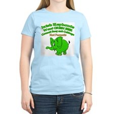 Irish Elephants Women's Pink T-Shirt