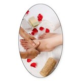 Woman receiving pedicure treatment  Decal