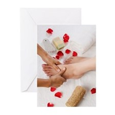 Woman receiving pedicure Greeting Cards (Pk of 10)