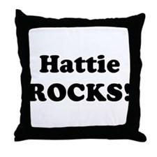 Hattie Rocks! Throw Pillow