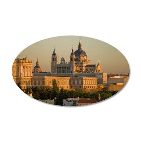 Cathedral Almudena Madrid, S 35x21 Oval Wall Decal