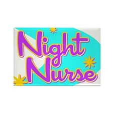 Night Nurse II Retro Style Rectangle Magnet