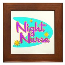 Night Nurse II Retro Style Framed Tile
