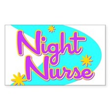 Night Nurse II Retro Style Rectangle Decal