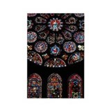 Ornate stained glass windows Rectangle Magnet