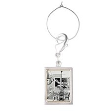 LiquidLibrary Portrait Wine Charm