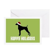 "Weimaraner ""Santa Hat"" Greeting Cards (Package of"