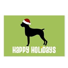 "Boxer ""Santa Hat"" Postcards (Package of 8)"