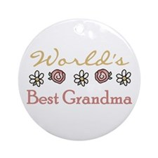 World's Best Grandma Ornament (Round)