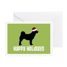 "Akita ""Santa Hat"" Greeting Cards (Pk of 10)"