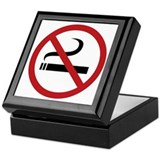 No Smoking Sign Keepsake Box