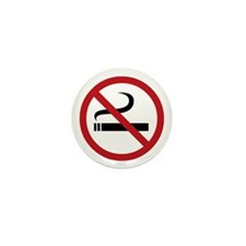 No Smoking Sign Mini Button