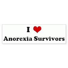 I Love Anorexia Survivors Bumper Bumper Sticker