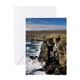 Cliffs near the Black Fort on Inishm Greeting Card