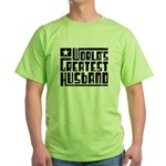 World's Greatest Husband Green T-Shirt