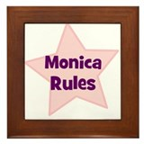 Monica Rules Framed Tile