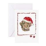 Merry Christmas Lagotto Romagnolo Greeting Cards