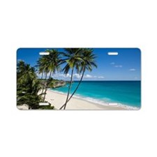 Unspoiled and secluded trop Aluminum License Plate