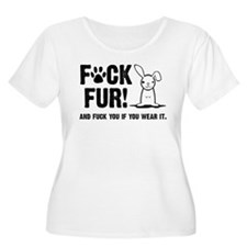 Fuck Fur Plus Size T-Shirt