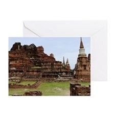Ancient temple at Ayutth Greeting Cards (Pk of 10)