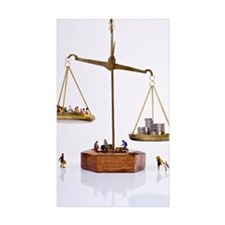 Miniature figures of peo Decal