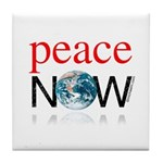Peace Now Tile Coaster