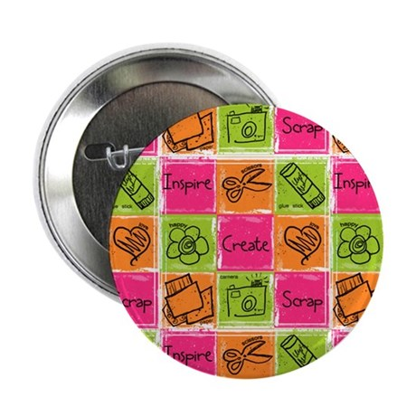 Scrapbook Doodle 2.25&amp;quot; Button (10 pack)