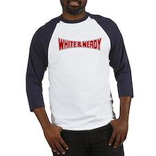 White and Nerdy Baseball Jersey