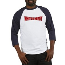 White and Nerdy Baseball Jersey