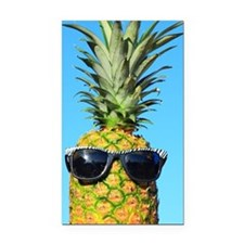 Pineapple with sunglasses Rectangle Car Magnet