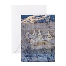 USA, Georgia, Stone Mountain, Bas-re Greeting Card