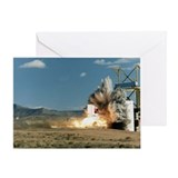 Rocket Sled Test of F-4 Phantom Jet Greeting Card