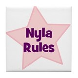 Nyla Rules Tile Coaster