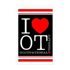 I Heart OT - Rectangle Decal