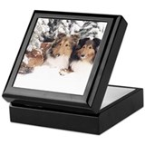 Snow Shelties Keepsake Box
